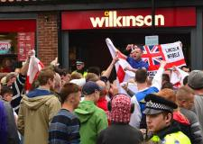 East Anglian Patriots anti-mosque protest in Lincoln on June 8 2013. Photo: Steve Smailes for The Lincolnite