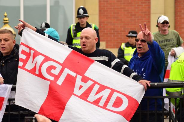 East Anglian Patriots in City Square. Photo: Steve Smailes for The Lincolnite
