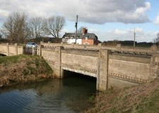 A57 Bishop Bridge over the Catchwater Drain, which was opened by the Mayor of Lincoln, Councillor Fordham, in July 1937. Photo: Richard Croft