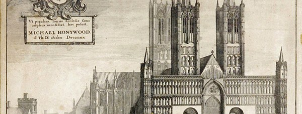 A 17th Century drawing of Lincoln Cathedral by Wenceslas von Pranchna.