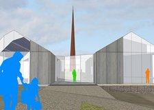 The original Spire of Names design for the Lincolnshire Bomber Command Memorial