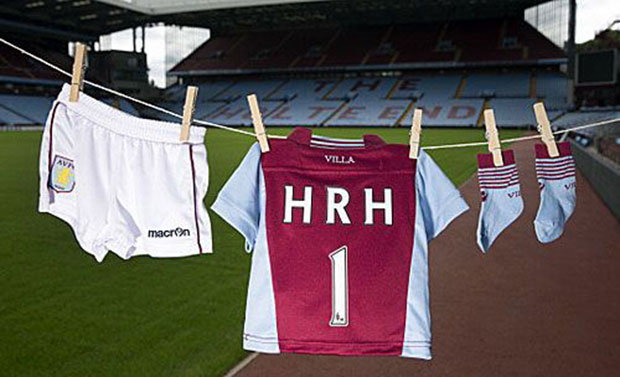 The Royal baby Aston Villa kit