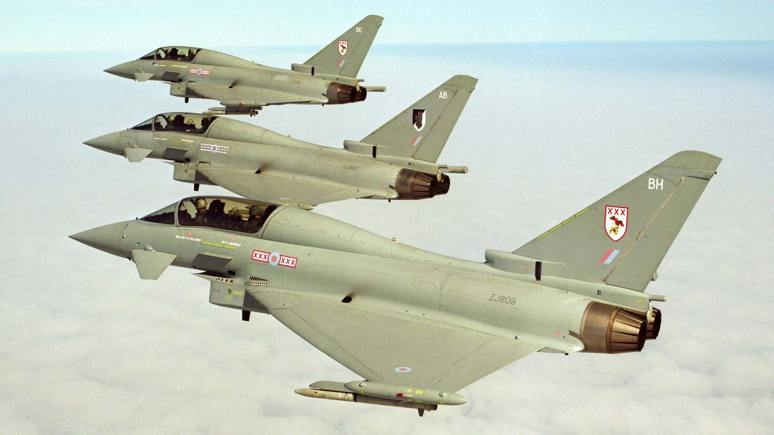 RAF Typhoon jets. Photo: Geoffrey H Lee/MoD
