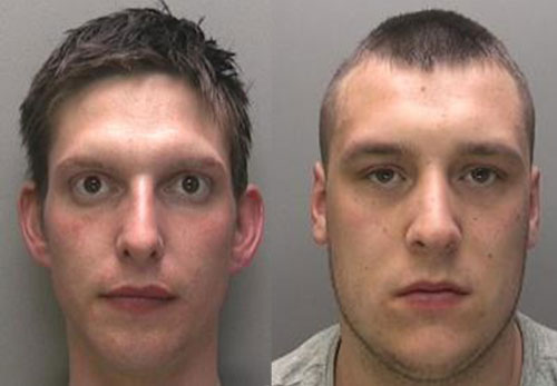 Wanted: William Nicholas Francis Cooke (L) and Aiden Marc McGhie (R). Photos: Lincolnshire Police