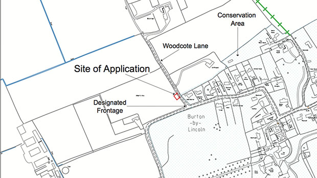 The site of the proposed sewerage pumping station.
