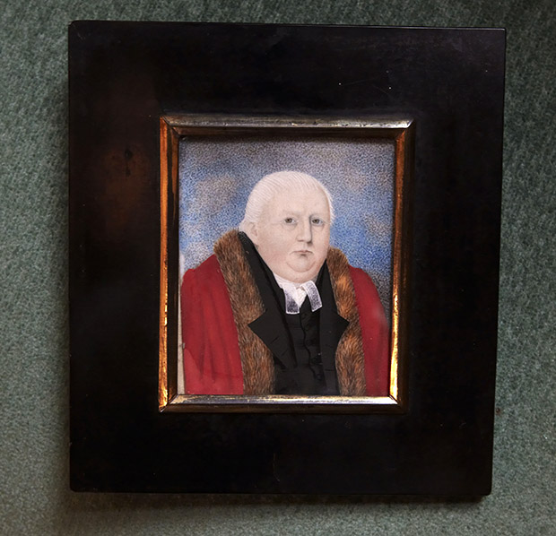 The miniature water colour painting is thought to be the first of its kind among the collection of Mayors' portraits in Lincoln Guildhall.