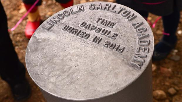 The students' time capsule. Photo: Steve Smailes for The Lincolnite