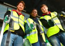 Volunteer students from the University of Lincoln gathered at Lincoln's West End to partake in a litter picking project. Photo: Steve Smailes for The Lincolnite