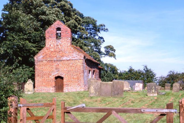 Exterior of St George's Church, Goltho, before the fire. Photo: Churches Conservation Trust