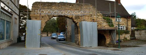 Newport Arch is the main entry point to the Bailgate area in Lincoln.