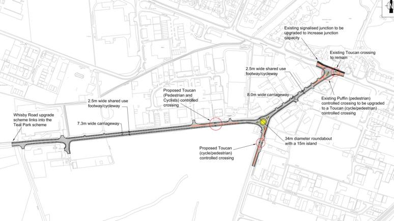 The plans for the year-long improvement works on Whisby Road in Lincoln. Image: LCC (ZOOM)