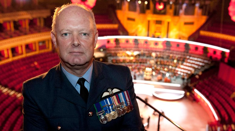 The annual Festival of Remembrance held at the Royal Albert Hall commemorates all those that have fallen in the service of their country.  Flight Lieutenant Mike Chatterton lead the contingent to mark the end of his 40 years of service to the RAF.