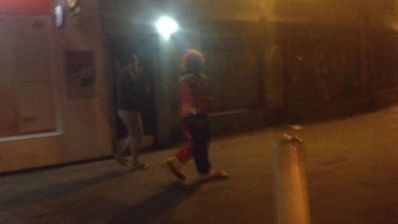 Reader Mel Bennett spotted a man wearing a clown costume and mask on Woodhall Drive in the Ermine in Lincoln at around 7.30pm Tuesday night.