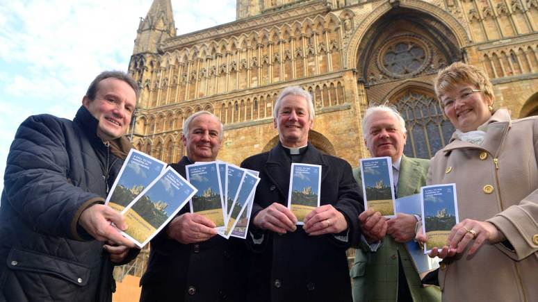 The Very Reverend Philip Buckler and Subdean Canon John Patrick met with Lincolnshire Farmers in order to launch the appeal for donations. Photo: Steve Smailes for The Lincolnite