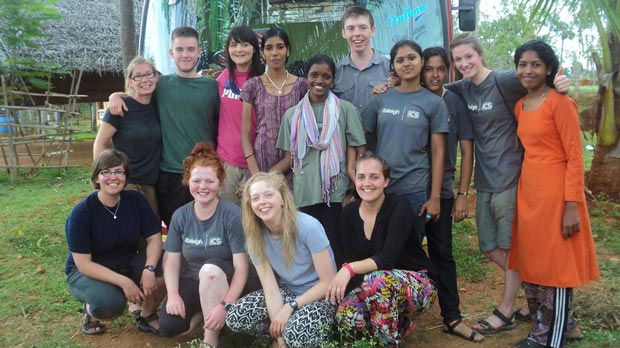 The team of volunteers consisted of young people from India and the UK, they called themselves 'Charlie 5'.