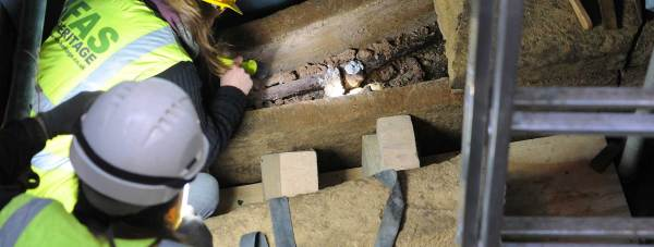 Peering into history: Could this be our first look at a Saxon king? Photo: Lincolnshire County Council