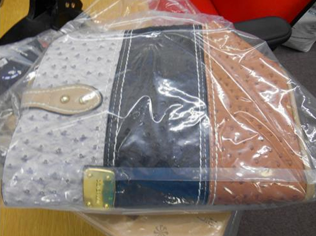 Seized counterfeit designer handbag. Photo: LCC