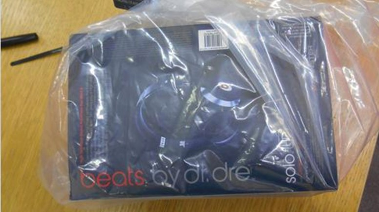 Seized fake Dr Dre Headphones. Photo: LCC