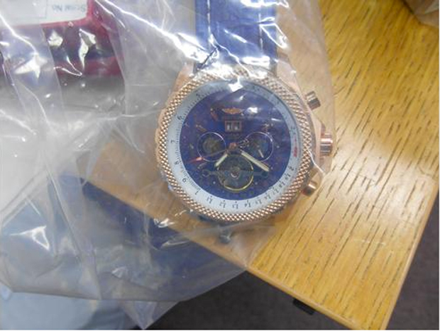 Seized fake Breitling watch. Photo: LCC