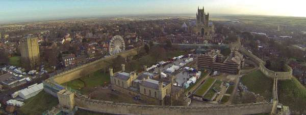 The 31st Lincoln Christmas Market seen from above. Photo: Kurnia Aerial Photography