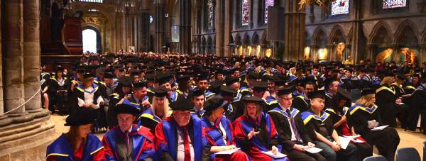 More than 500 students attended the University of Lincoln graduation ceremonies on January 22. Photo: Steve Smailes for The Lincolnite