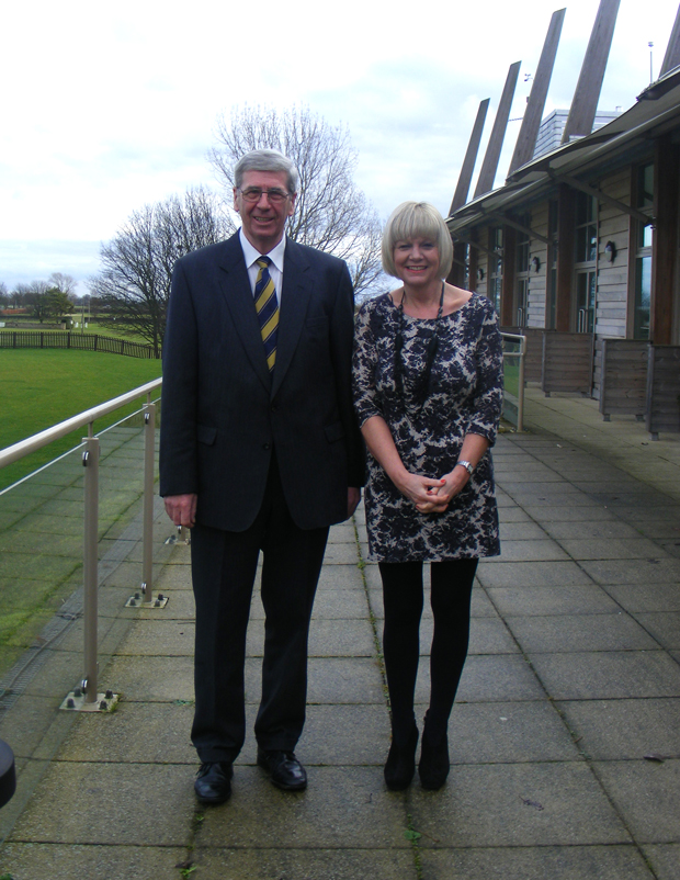Ricbard Needham, President of the LAS for 2014, with Jane Southall, Director of the Lincolnshire Showground. Photo: LS