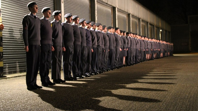 The cadets joined forces for a full rehersal on Feburary 27. Photo: Emily Norton