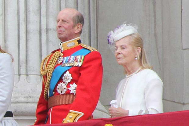 The Duke and Duchess of Kent on the balcony of Buckingham Palace, June 2013