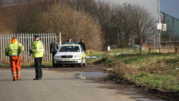 Police carrying out investigations at the scene on February 9, 2014. Photo: E Norton for The Lincolnite