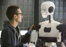 A 3D-pinted android robot by a University of Lincoln research team. Photo: University of Lincoln.
