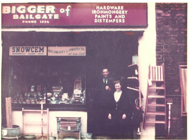 Fred and Nellie Bigger set up the Bigger of Bailgate hardware shop in 1944. Photo: BofB
