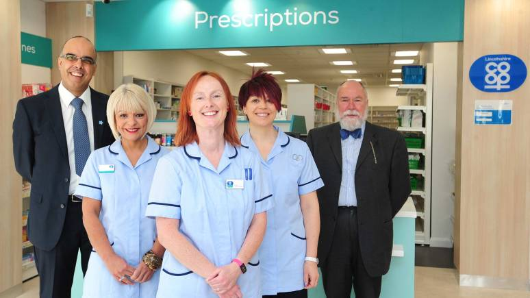 The pharmaceutical team in Newland Pharmacy. Photo: Lincolnshire Co-op