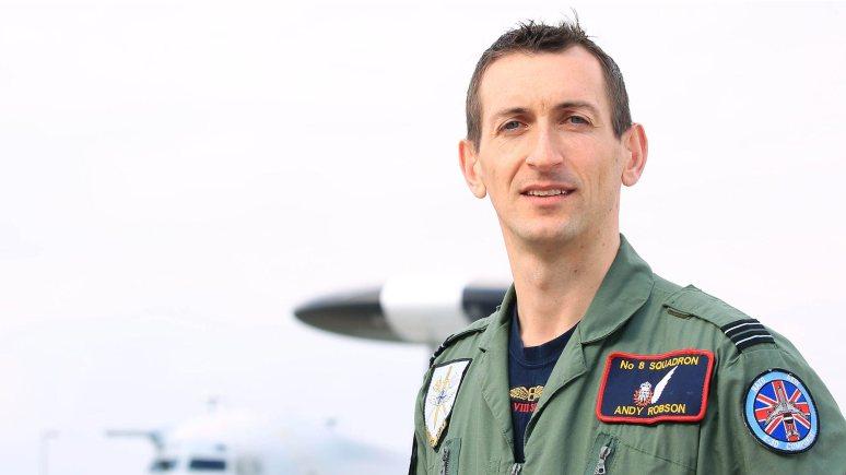 Flight Lieutentant Andrew Robson. Photo: SAC Clarke/RAF Waddington