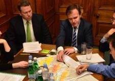 DEFRA Minister George Eustice met with officials in Lincoln to discuss flood protection. Photo: Steve Smailes for The Lincolnite