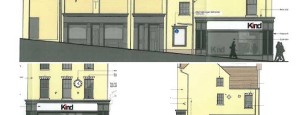 Proposals for the new side and frontage of the building.