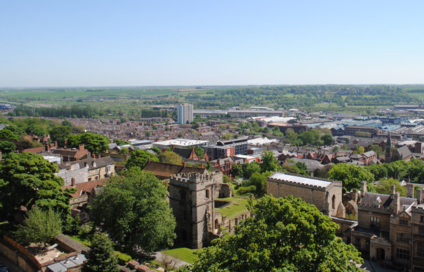 Lincoln viewed from St Hugh's turret. Photo: File/The Lincolnite