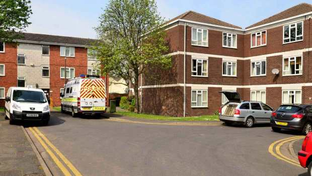 Police are investigating at the house where the body was found on Hermit Street in Lincoln. Photo: Steve Smailes for The Lincolnite
