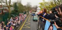 School children screamed and cheered as Jade's parade passed by. Photo: Steve Smailes for The Lincolnite