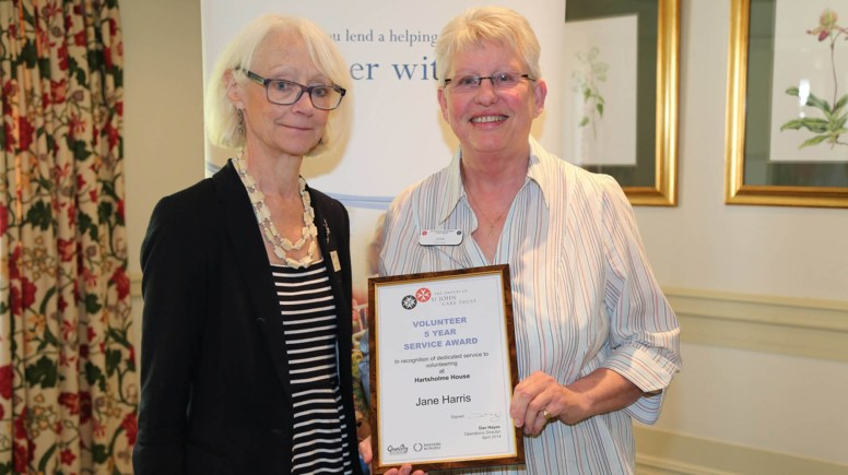 Jane Harris from Hartsholme House in Lincoln was awarded for her 5 years of service. Photo: Phil Crow