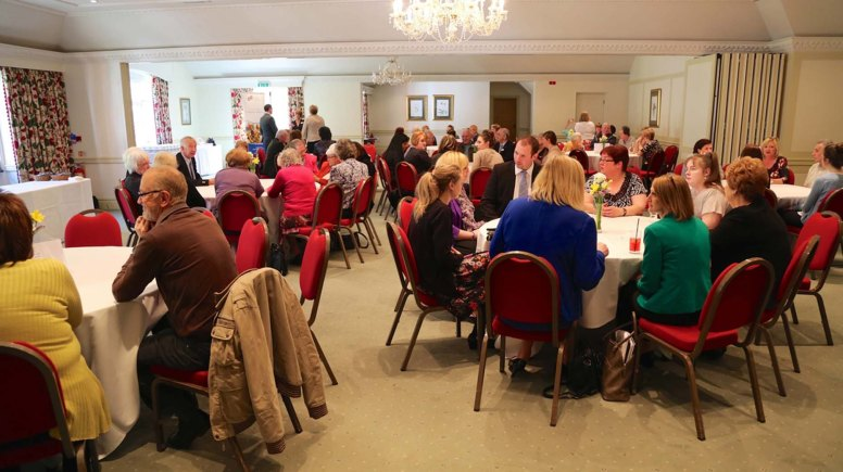Care home volunteers gathered at the Petwood Hotel in Woodhall Spa for the awards. Photo: Phil Crow