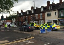 The scene of the incident on Carholme Road.