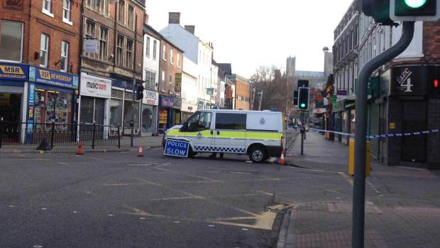Police investigations closed a part of the High Street. Photo: Chris Brandrick