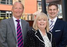 John Allen, Principal and Chief Executive of Lincoln College, Margaret Serna, Chair of the Board and Gary Headland, Chief Executive of The Lincoln College Group.