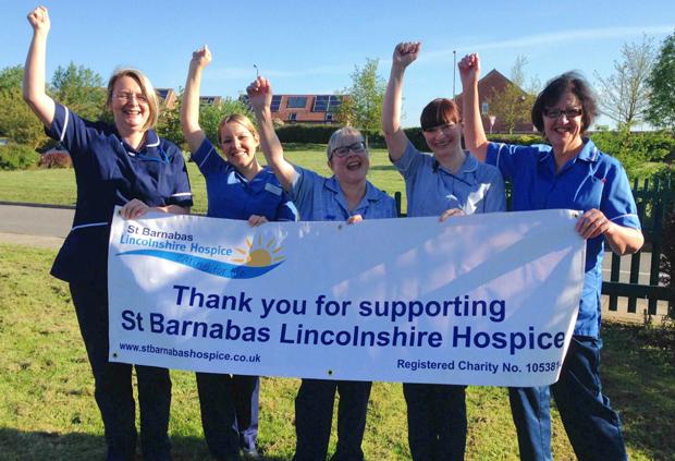 St Barnabas Lincolnshire Hospice nurses celebrating their win. Photo: St Barnabas