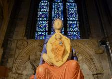 The seven-foot sculpture of the Virgin Mary at Lincoln Cathedral. Photo: Steve Smailes for The Lincolnite