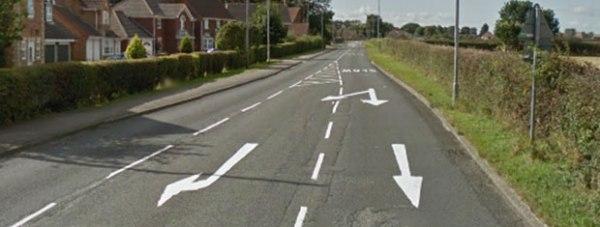 B1131 Canwick Avenue at Bracebridge Heath, Lincoln. Photo: Google Street View