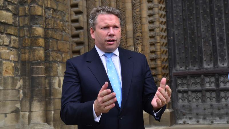 Lincoln MP Karl McCartney at the presentation at Lincoln Cathedral. Photo: Steve Smailes for The Lincolnite