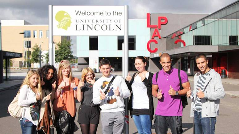 Students on the Brayford campus at the University of Lincoln. Photo: File/The Lincolnite