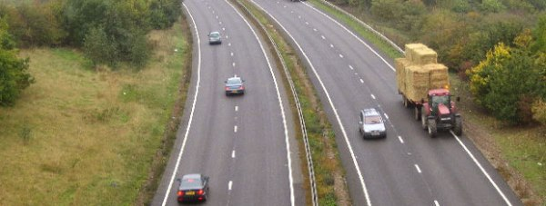 The A46 looking south west from the Burton Road flyover bridge. Photo:  Matthew Smith