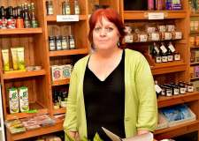 Bailgate Guild Chairman Linda Wardale in her shop, Yellowbellies